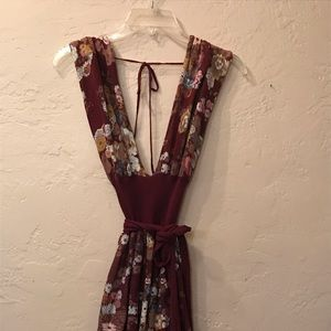 Free People L floral knit dress
